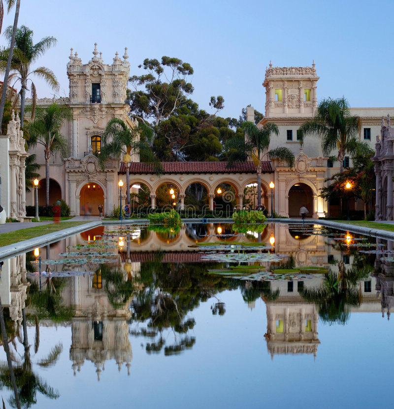 Casa De Balboa no alvorecer imagem de stock royalty free