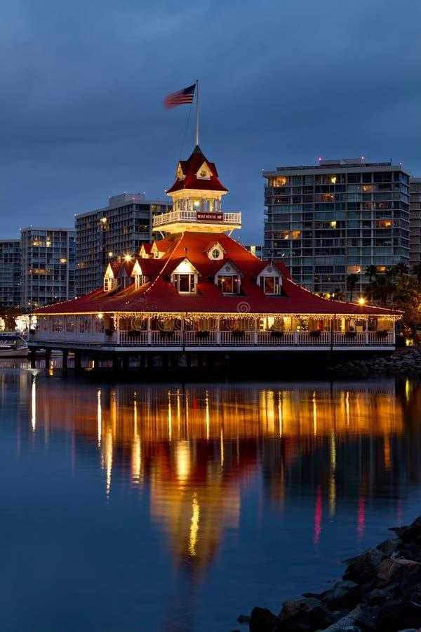 Casa de barco de Coronado fotografia de stock royalty free