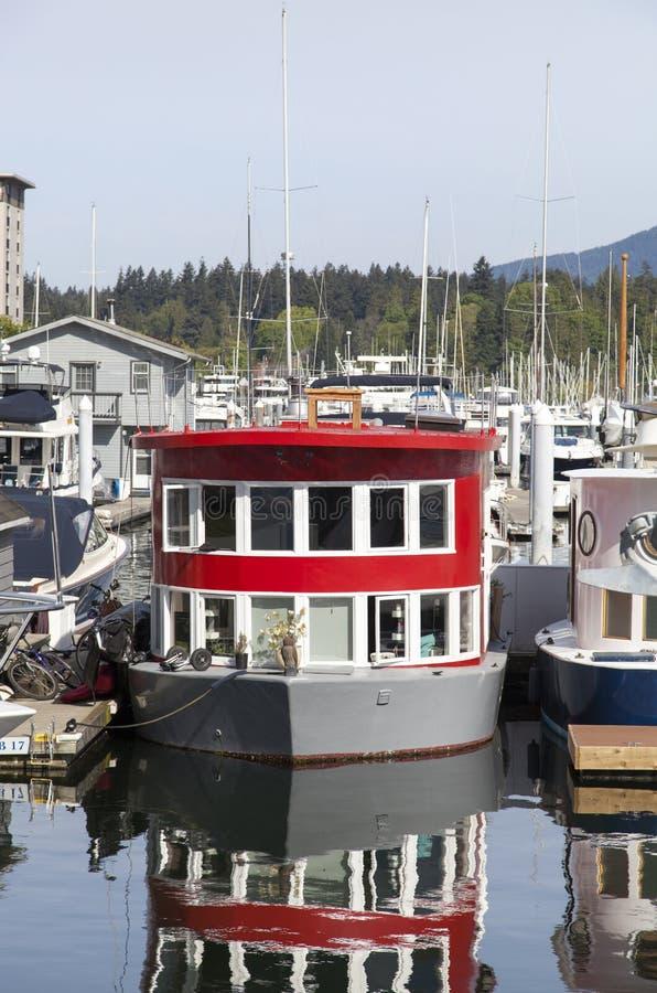 Casa de barco de Vancôver fotografia de stock