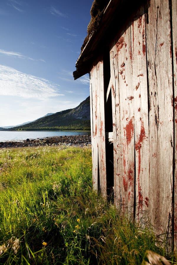 Casa de barco Noruega fotografia de stock royalty free