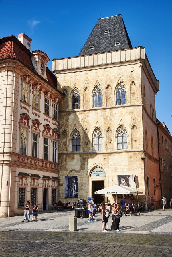 Casa de Bell de pedra, Praga, República Checa imagem de stock