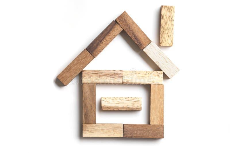 Casa de bloco de madeira fotos de stock royalty free