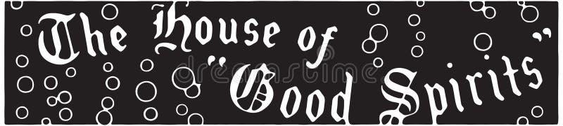 A casa de bons espírito ilustração royalty free