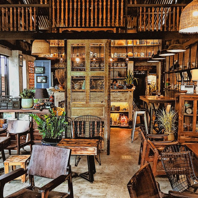 Casa de café imagem de stock