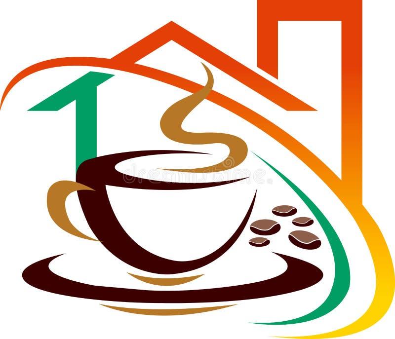 Casa de café ilustração stock