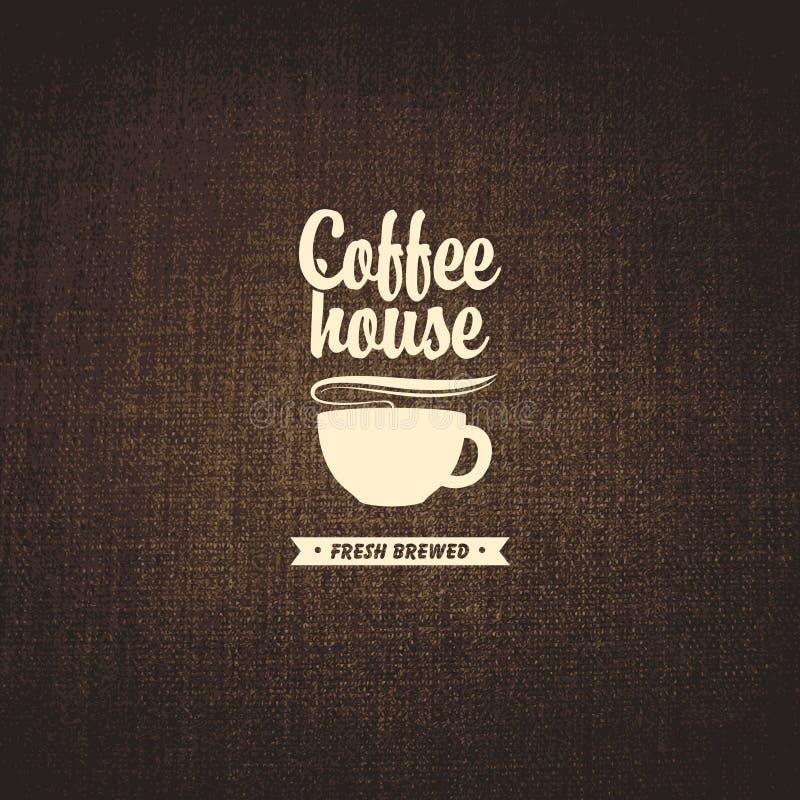 Casa de café ilustração royalty free