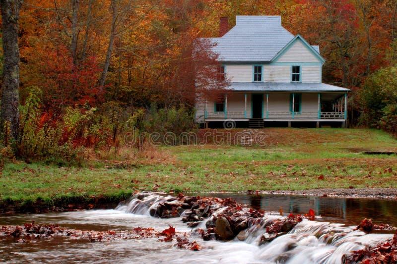 Casa de Caldwell em Catalochee no parque nacional de Great Smoky Mountains imagem de stock