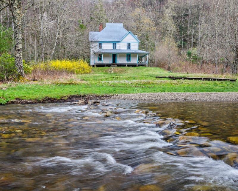 Casa de Caldwell, vale de Cataloochee, montanhas de GreatSmoky imagens de stock
