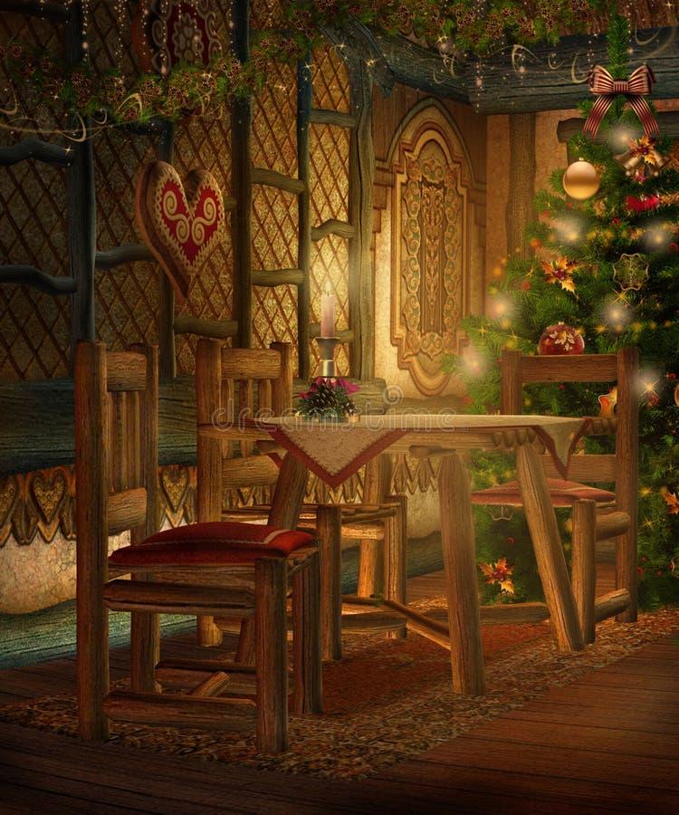 Download Casa de campo 1 do Natal ilustração stock. Ilustração de garland - 16868930