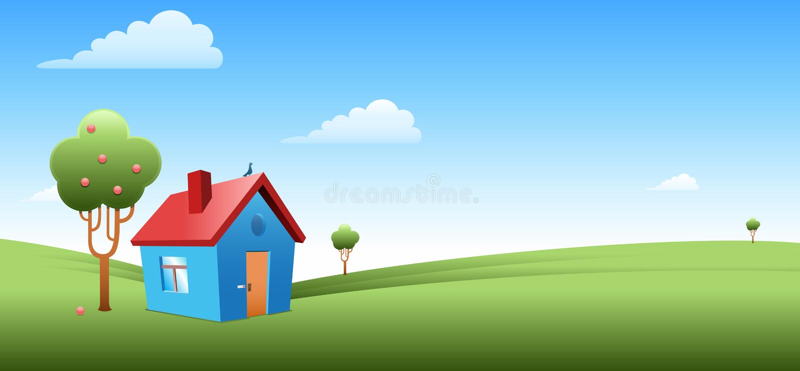 Casa de campo libre illustration