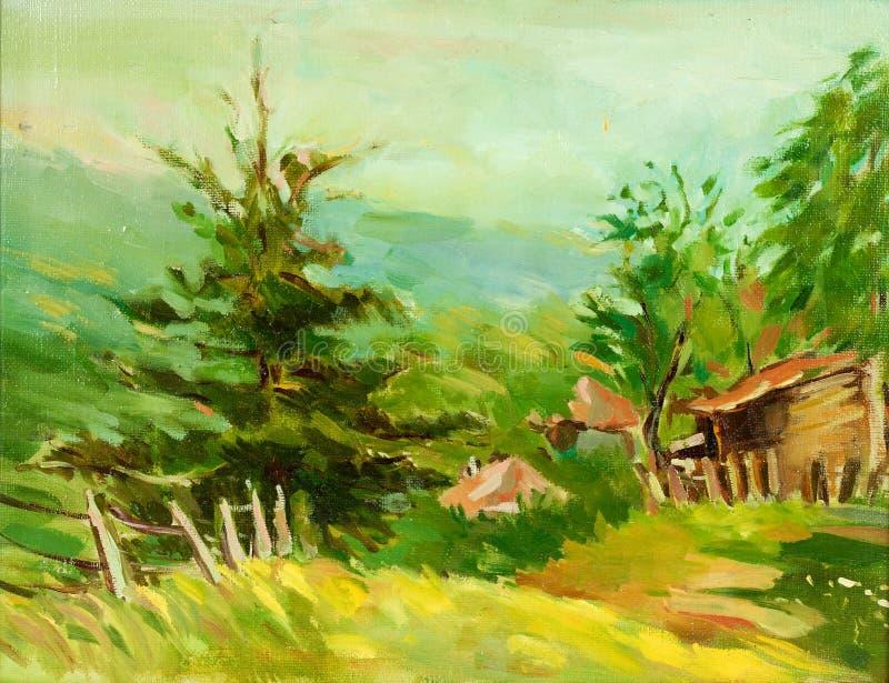 Download Casa de campo ilustração stock. Ilustração de ilustração - 26511699
