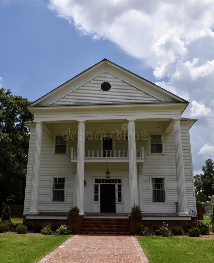 Casa de campo Antebellum do casamento foto de stock royalty free