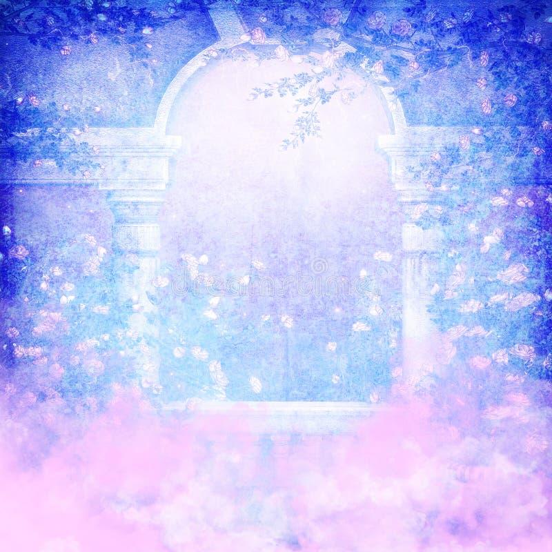 Casa de campo celestial ilustração royalty free