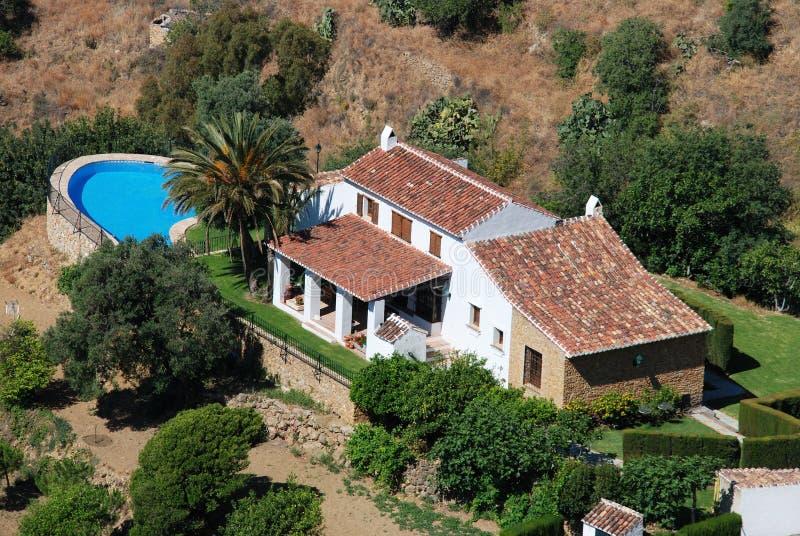 Casa de campo com associação, Mijas fotografia de stock royalty free