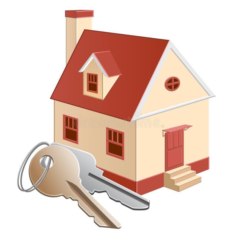 Casa de campo com chaves ilustração do vetor