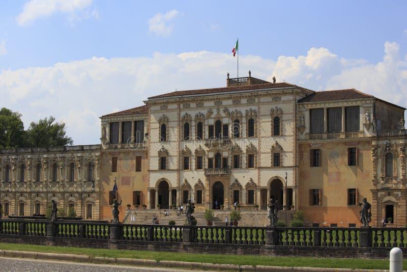 Casa de campo Contarini no sul Brenta de Piazzola fotografia de stock royalty free