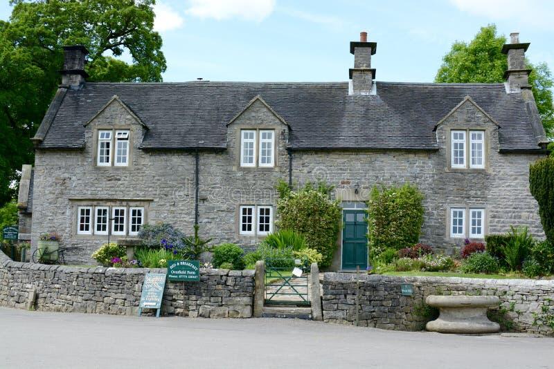 Casa de campo da pedra de Tissington, Derbyshire imagem de stock