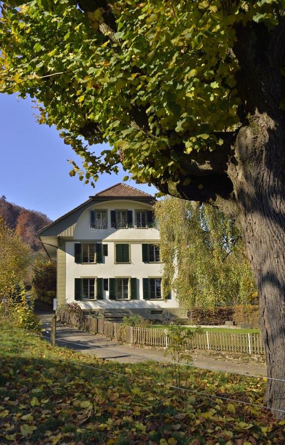 Casa de campo de Suíça fotos de stock royalty free