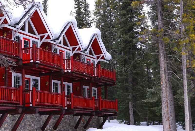 Casa de campo del invierno fotos de archivo