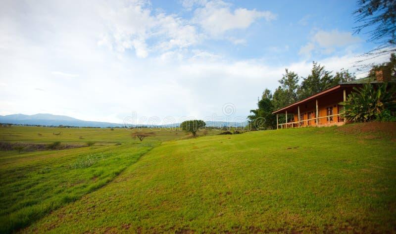 Casa de campo del safari foto de archivo