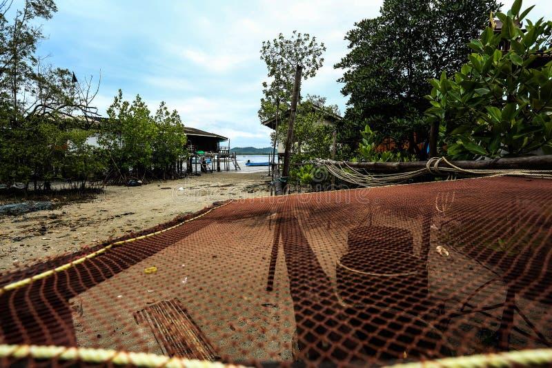 Casa de campo do Homestay na ilha pequena imagem de stock
