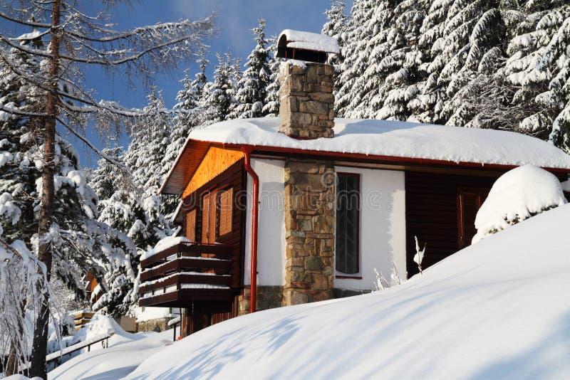 Casa de campo do inverno foto de stock royalty free