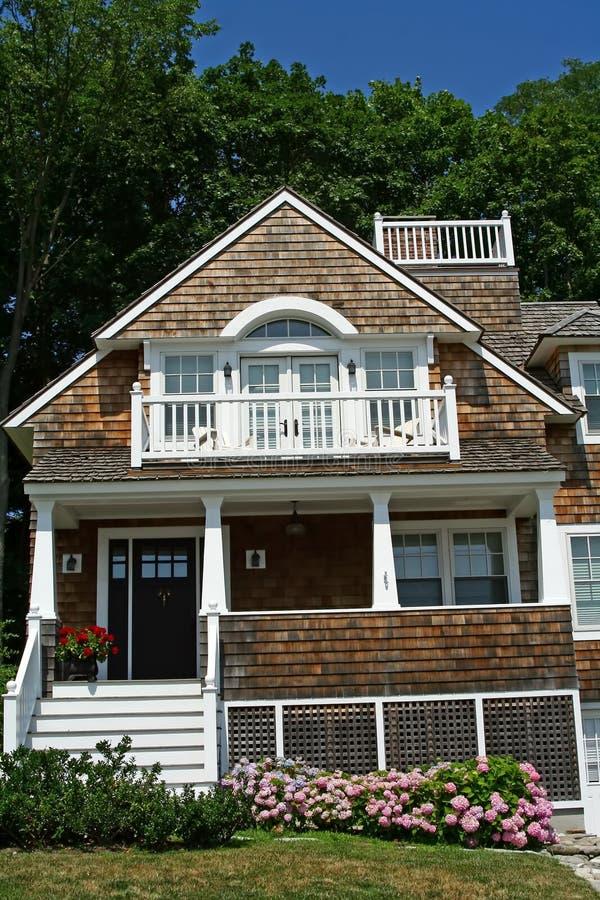 Casa de campo do Seashore imagem de stock royalty free