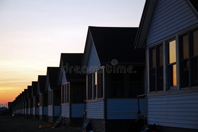 Casa de campo dos dias na extremidade dos dias, Cape Cod foto de stock