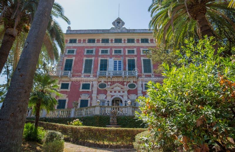 Casa de campo Durazzo-Centurione em Santa Margherita Ligure, província de Genoa, riviera ligurian, Itália imagem de stock