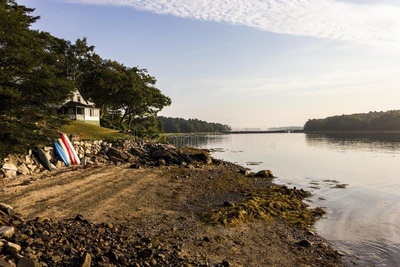 Casa de campo em primos ilha, Maine imagem de stock royalty free