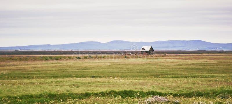 Casa de campo en Islandia imagenes de archivo