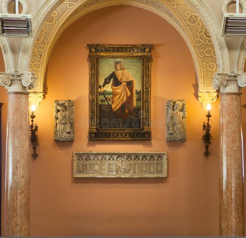 Casa de campo Ephrussi de Rothschild, Saint Jean capFerrar, França imagens de stock