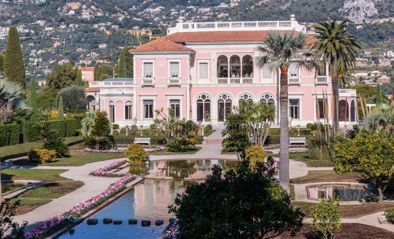 Casa de campo Ephrussi de Rothschild foto de stock royalty free