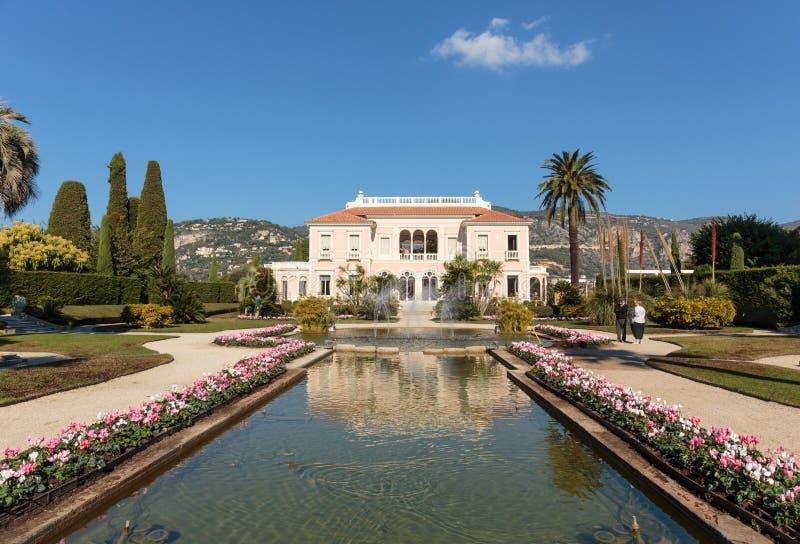 Casa de campo Ephrussi de Rothschild fotos de stock royalty free