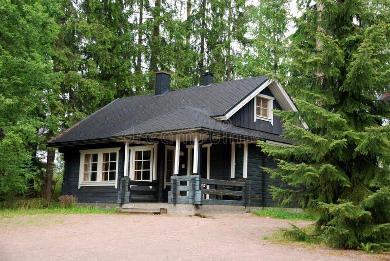 Casa de campo finlandesa foto de stock