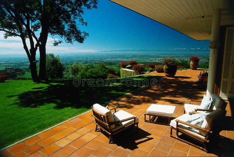 Casa de campo ideal bonita fotografia de stock