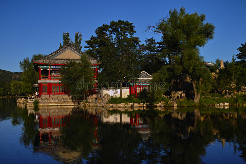 Casa de campo imperial do verão - pavillion do yanyu fotografia de stock royalty free