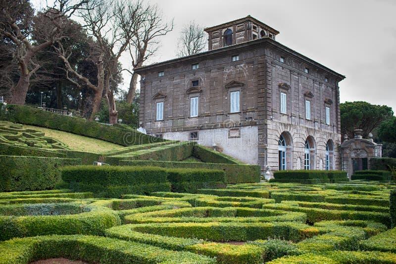Casa de campo Lante Bagnaia Itália imagens de stock royalty free