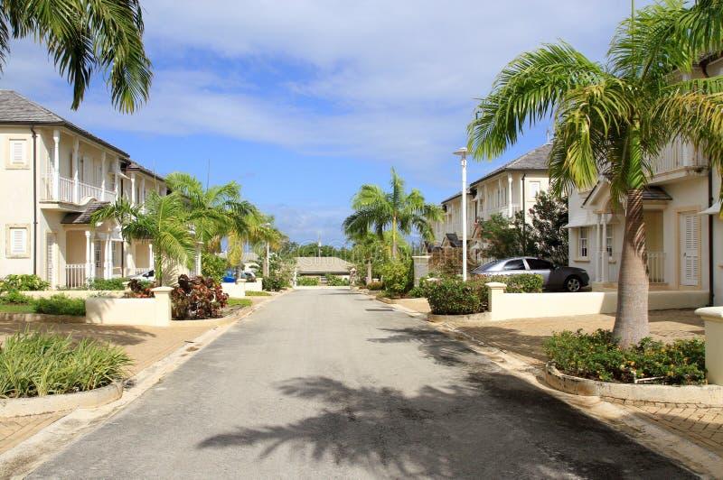 Casa de campo luxuosa na praia de Mullins, Barbados foto de stock royalty free