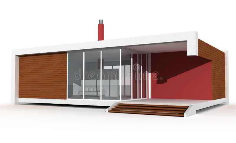 Casa de campo minimalista do feriado ilustração do vetor