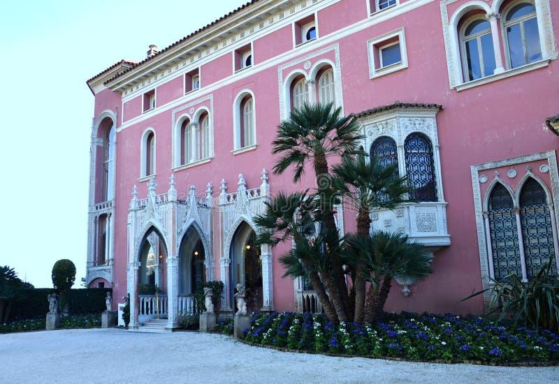 Casa de campo Rothschild, Cap Ferrat, Riviera francês, França imagens de stock