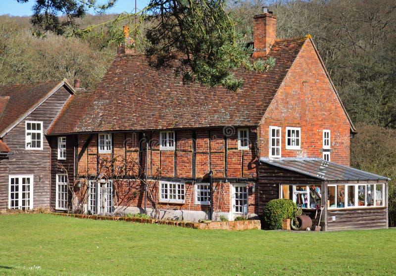 Casa de campo rural inglesa quadro madeira imagem de stock royalty free
