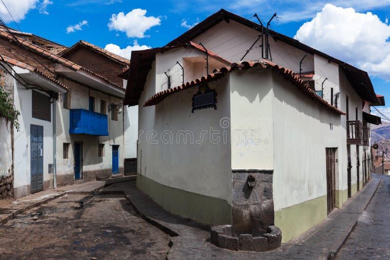 Casa de canto fotografia de stock