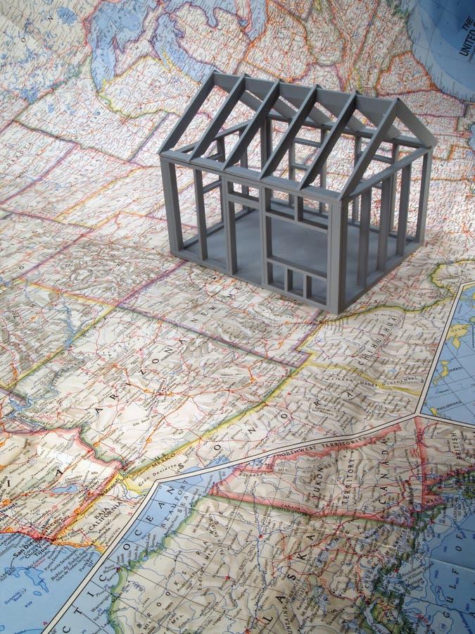 Casa de capítulo en correspondencia de los E.E.U.U. fotografía de archivo libre de regalías