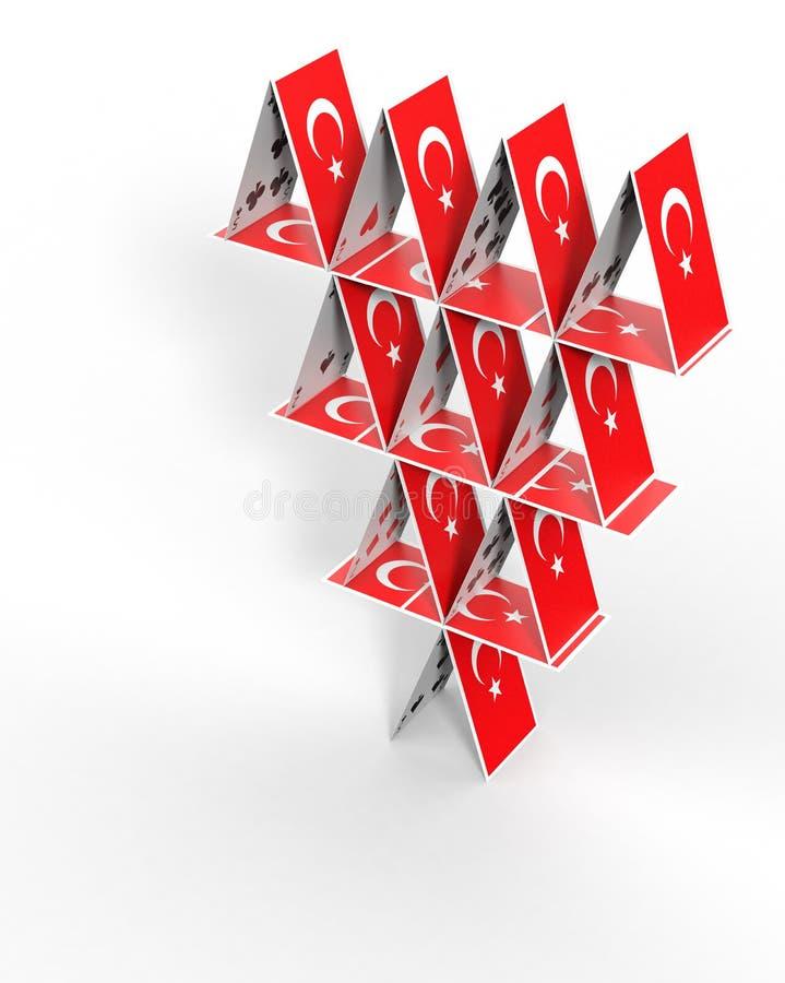 Casa de cartões turca ilustração stock