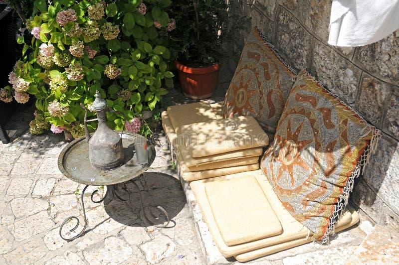 Casa de chá árabe fotografia de stock