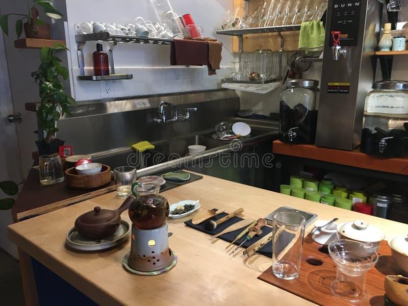 Casa de chá fotografia de stock