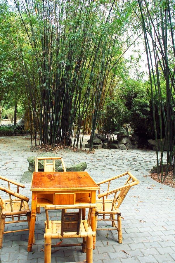 Casa de chá de bambu fotografia de stock