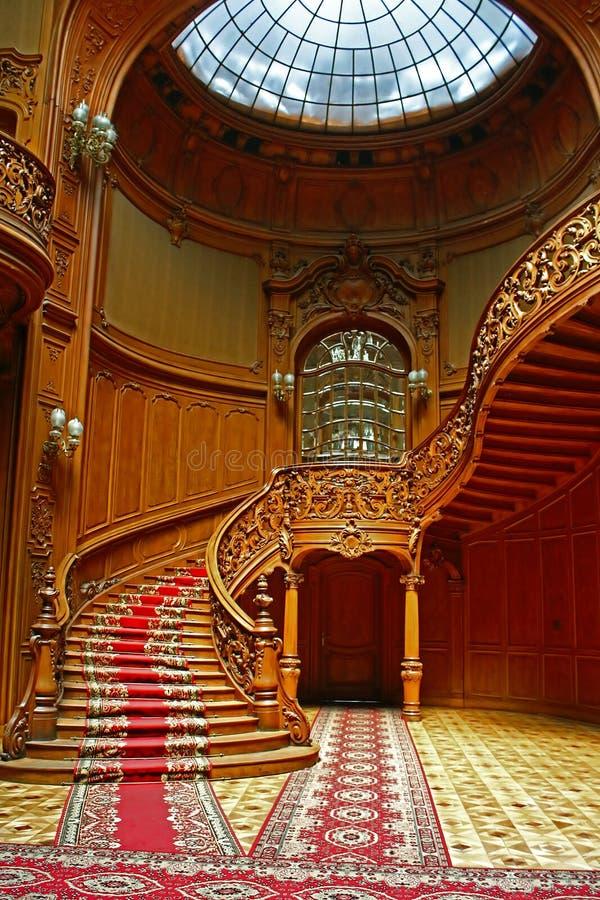 Casa de científicos - un casino nacional anterior, Lviv fotos de archivo libres de regalías
