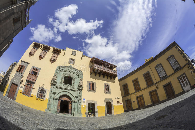 Casa de Columbo em Las Palmas de Gran Canaria foto de stock royalty free